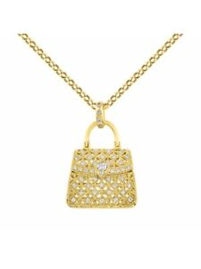 Designer-Purse-Diamond-Pendant-Necklace-in-14K-Yellow-Gold-With-18-034-Chain-LP1015