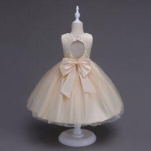 Flower-Girl-Dress-Princess-Formal-Birthday-Party-Holday-Bridesmaid-Wedding