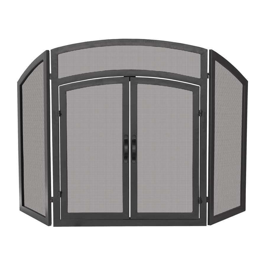 Uniflame 3 veces Negro De Hierro Forjado parte superior en arco con puertas-S-1178