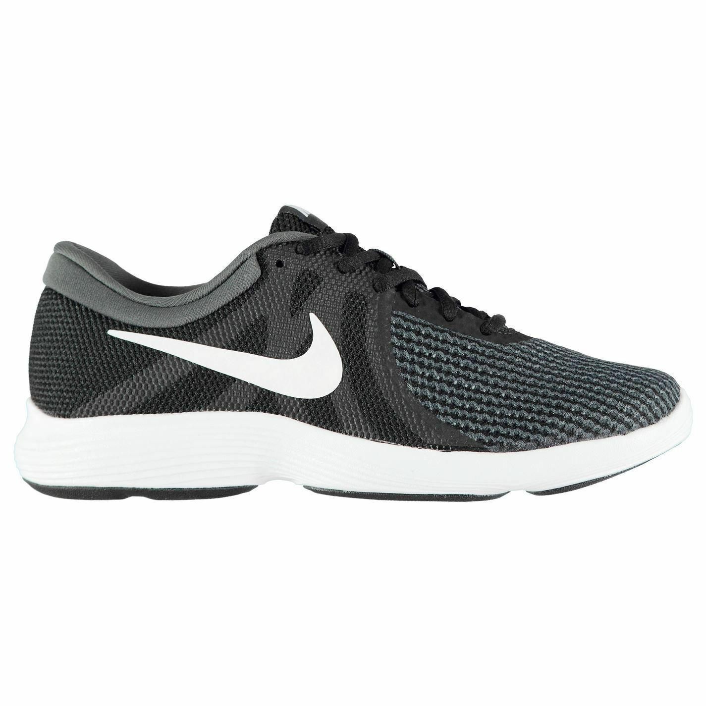 Nike Revolution 4 Trainers Mens Black/White Athletic Sneakers Shoes