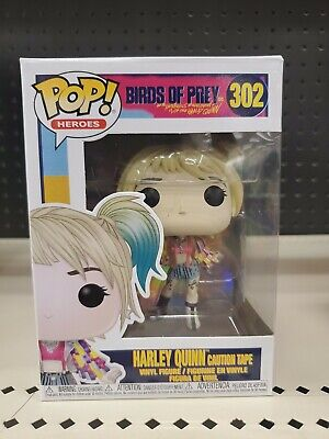 BIRDS OF PREY FUNKO POP MOVIES HARLEY QUINN CAUTION TAPE 302 44367 IN STOCK