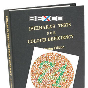 Brand BEXCO 14 Plates Color Blindness Ishihara Test Book DHL ...
