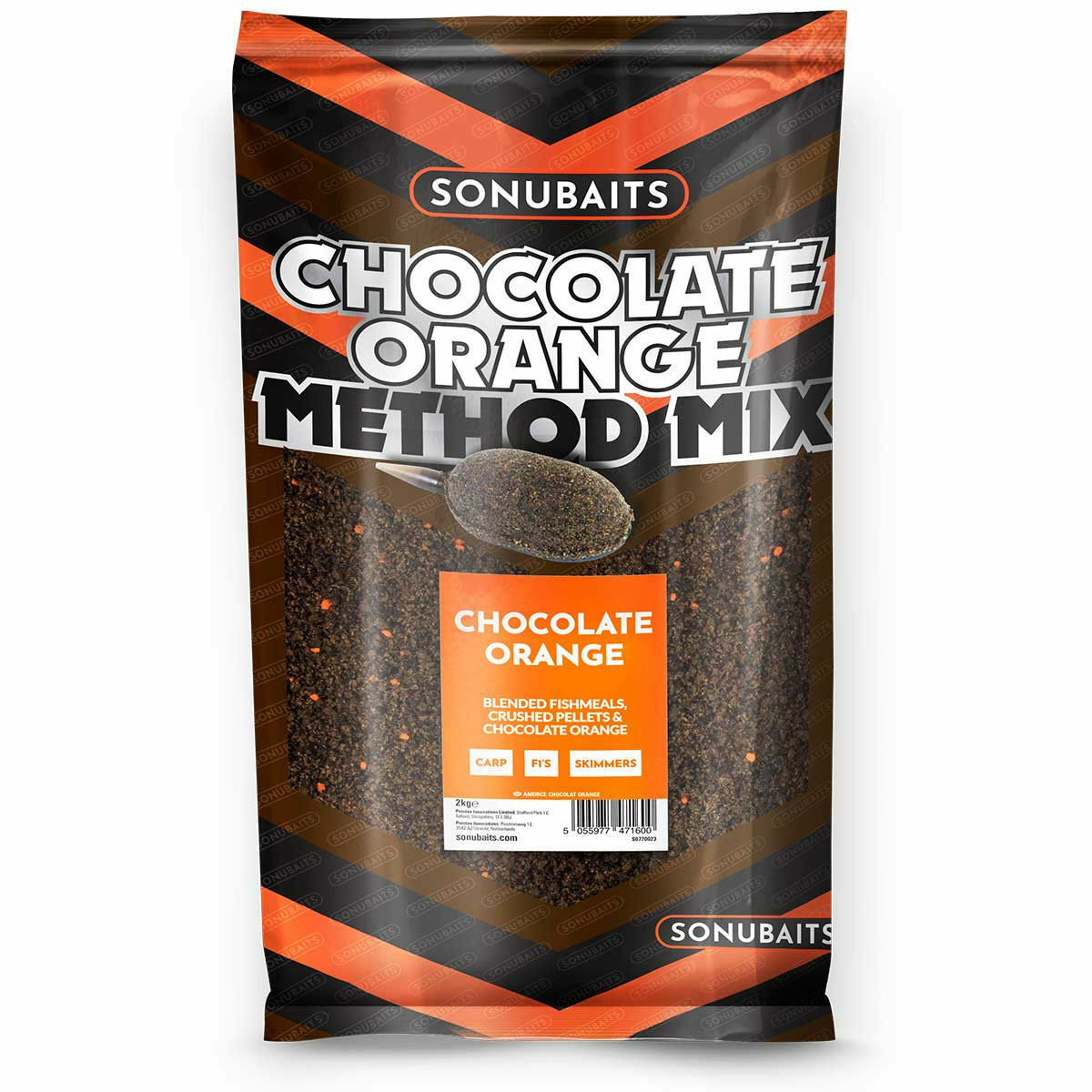 20 KG SONUBAITS Cioccolato Arancione metodo MIX 10 x 2 kg sacchetti