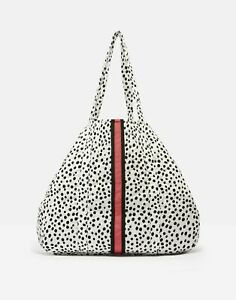 Joules-Womens-Hillwood-Quilted-Tote-Bag-BLACK-SPOT-in-One-Size