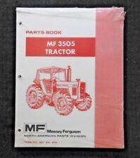 Original Massey Ferguson Mf 3505 Mf3505 Tractor Parts Catalog Manual Mint Sealed