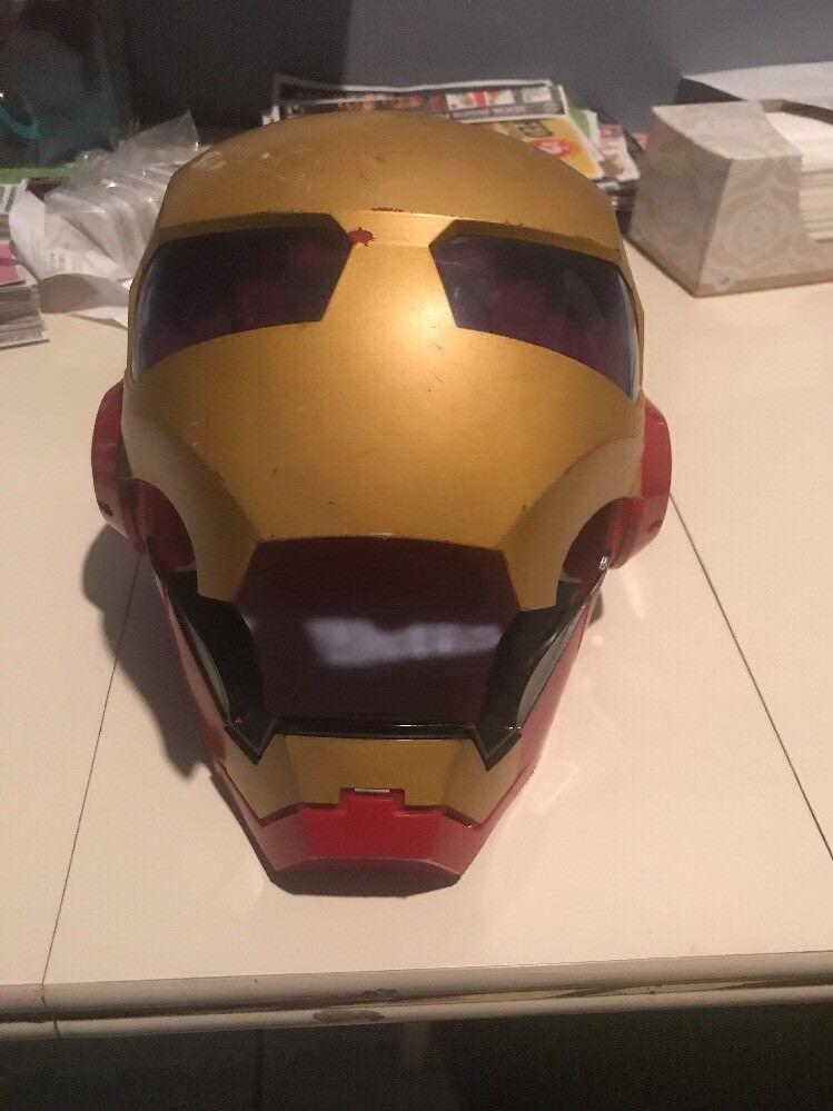2010 2010 2010 Collectible Marvel IRON MAN DELUXE HELMET Electronic Costume Ironman Mask 69079b