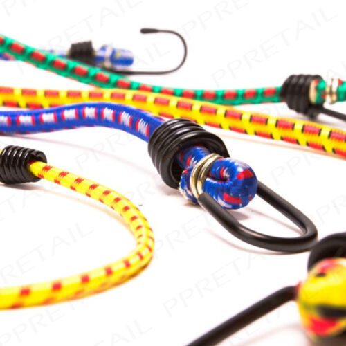 8x ASSORTED SIZE ELASTICATED BUNGEE CORDS Luggage Straps Hooked Ropes Car Tie