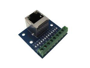 Rj45 Ethernet Connector Breakout Board Module 180 Vertial