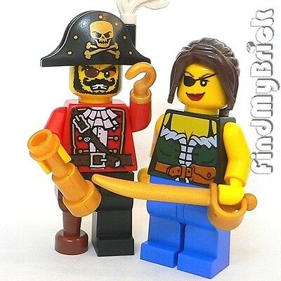 LEGO 8833 Minifigure Series 8 PIRATE Captain COMPLETE w// Hat /& Sword OOP