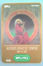 1981 5/15 GRATEFUL DEAD WPLJ RADIO 95.5 PROMO BACKSTAGE PASS