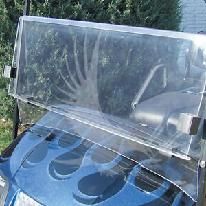 EZGO TXT & Medalist  Clear Windshield 1994-2013  *New In Box Golf Cart Part*