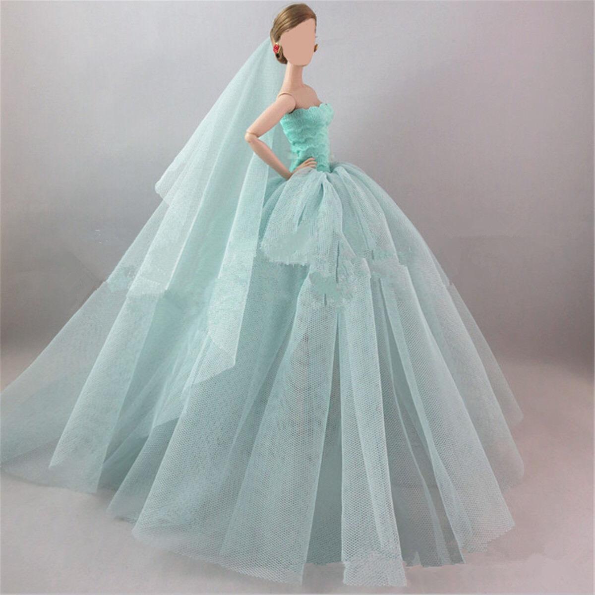 Handmade Wedding Royalty Princess Long Dress/clothes/gown Veil for ...