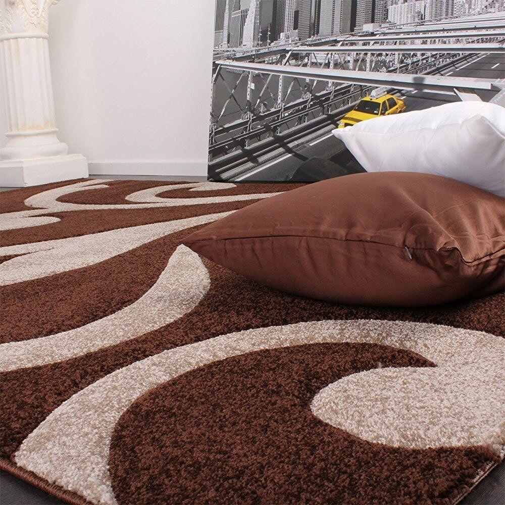 ... Marron à Motifs Tapis Pour Tapis Salon Chocolat Foncé Beige Tapis Pour  Petit Large Neuf 93137c ...