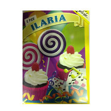 Tarjeta de cumpleaños musical genérico canta nome ILARIA y FELIZ En TE