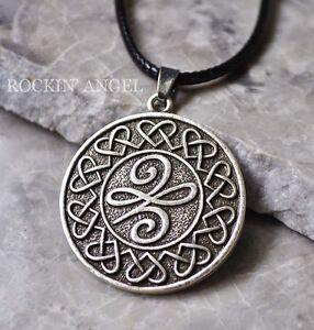 Antique Silver Plt Celtic Knot Hearts New Beginnings Pendant