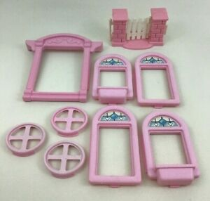 Fisher-Price-Loving-Family-Dream-Dollhouse-Replacement-9pc-Lot-Pieces-1993-6364