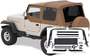 Image Is Loading 1987 1995 Jeep Wrangler Soft Top W Upper