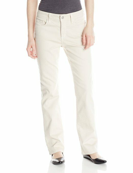 NEW NYDJ Not Your Daughters Jeans Marilyn Straight Clay Ivory khaki tan sz 14P