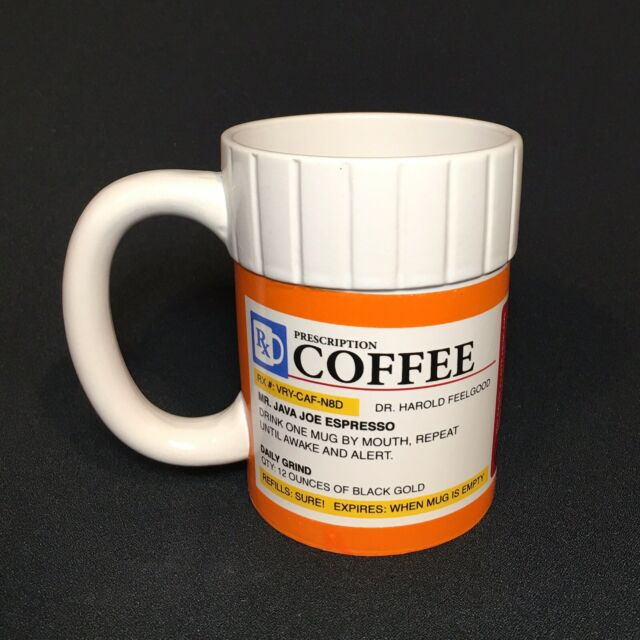 Prescription Pill Bottle Coffee Mug 12oz Big Mouth Toys For Sale Online Ebay