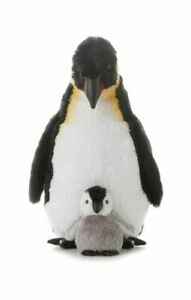 Aurora World Emperor Penguin With Baby 12in Plush Puppets
