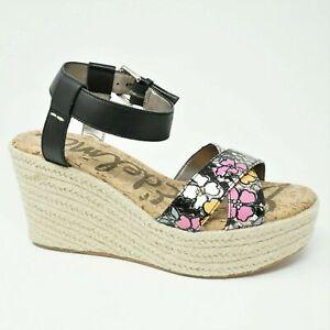 51318e01a6f Sam Edelman Womens Platform Sandals Size 12M Destin Floral Black ...