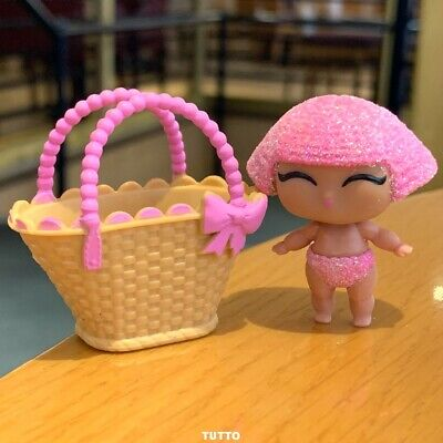 With bag PINK BODY  LOL Surprise LiL Sisters L.O.L GLITTER QUEEN doll MBJD