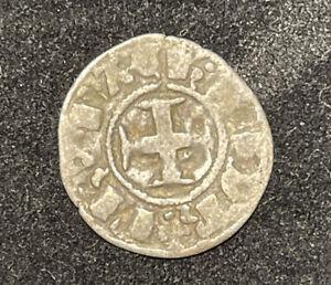 CHIARENZA -Medioevo. Filippo di Taranto (1307-1313)  Denaro tornese - Periziato