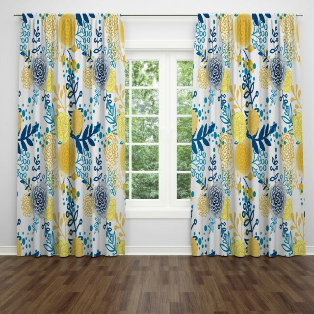 French Country Austrian Gold Floral Valance (Yellow ) For