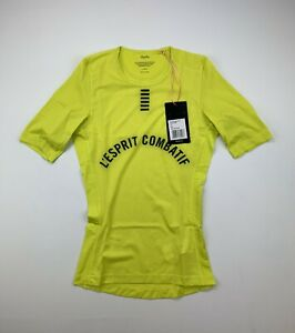RAPHA Pro Team Short Sleeve Base Layer Yellow Size XS New