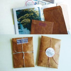 50Pcs-Brown-Kraft-Paper-Envelope-Retro-Envelopes-Invitation-Letter-UK