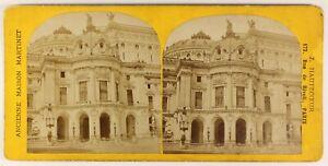 Opera Garnier Parigi Francia Foto Stereo PL55L5n Vintage Albumina c1880