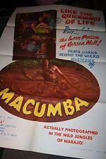 MACUMBA Vintage Movie Poster 1956 Jungle Adventures Vanja Orico Robert Freytag