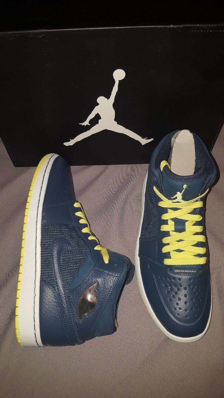 eec49dd43cc NIKE JORDAN 1 RETRO 97 TXT MENS SHOES blueE YELLOW US SIZE 9 555071 445 AIR  nxrvkz1024-Athletic Shoes