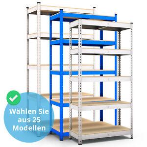 Steckregal-Werkstattregal-Kellerregal-Schwerlastregal-Metallregal-Lagerregal-MDF