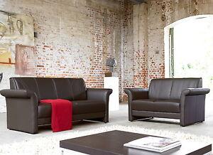 leder sofa garnitur 2er 3er couch wohnlandschaft 2 3. Black Bedroom Furniture Sets. Home Design Ideas