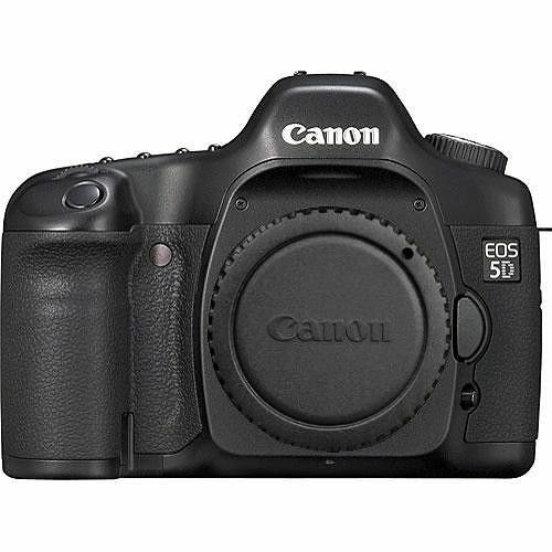 Canon EOS 5D 12.8 MP Digital SLR Camera - Black (Body Only) White Box