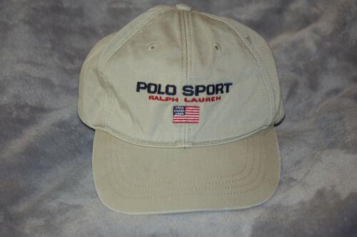 Vintage 90s Polo Sport Spellout Flag Cap Hat