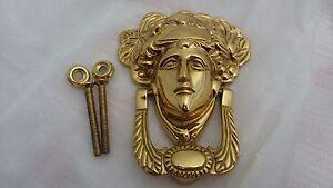 Image Is Loading Victorian Solid Brass MEDUSA Door Knocker Brand New
