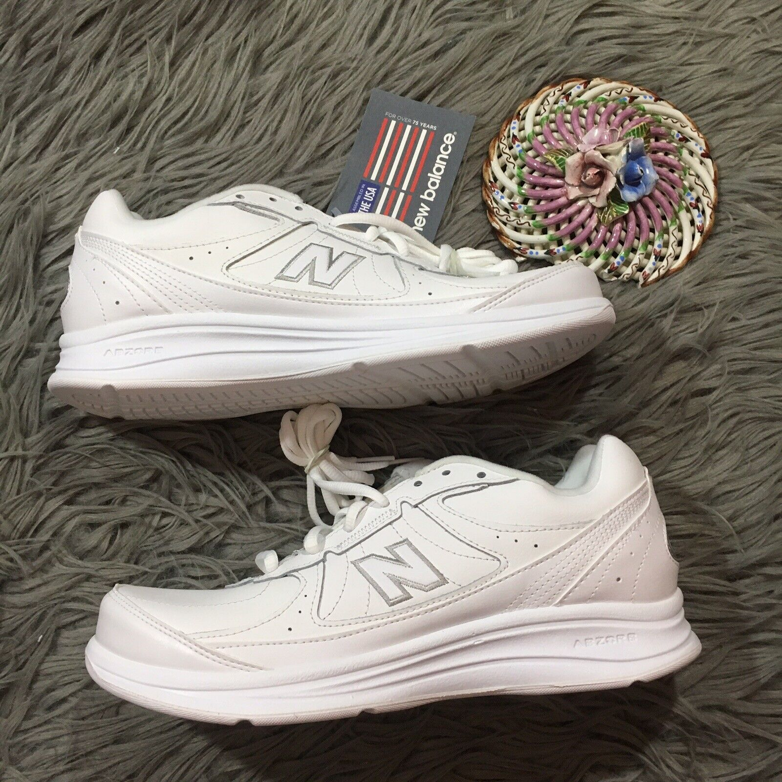 NEW BALANCE WW577WT Walking shoes Women's Sz 10 2A Lace Up NWT White Comfort