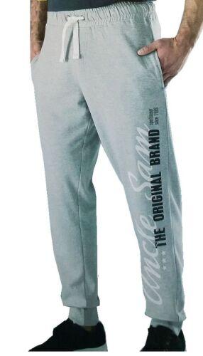 Uncle Sam Herren Bodyhose//Trainingshose//Fitnesshose Grau//Schwarz