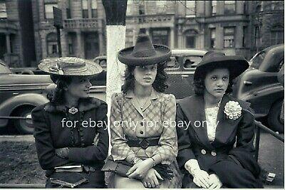 8X10 Vintage Photo reprint 1940/'s African American Black Woman Crazy Hat Fashion