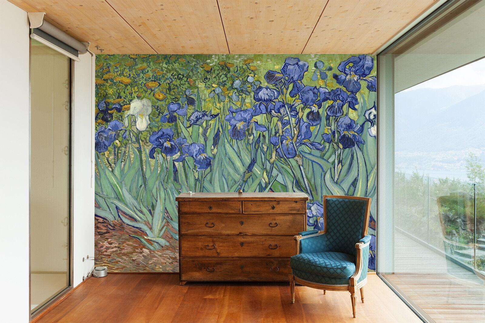 3D Gemalte Blaumen Kunst 7983 Tapete Wandgemälde Tapeten Bild Familie DE Jenny | Abgabepreis  | Günstige  | Haltbar