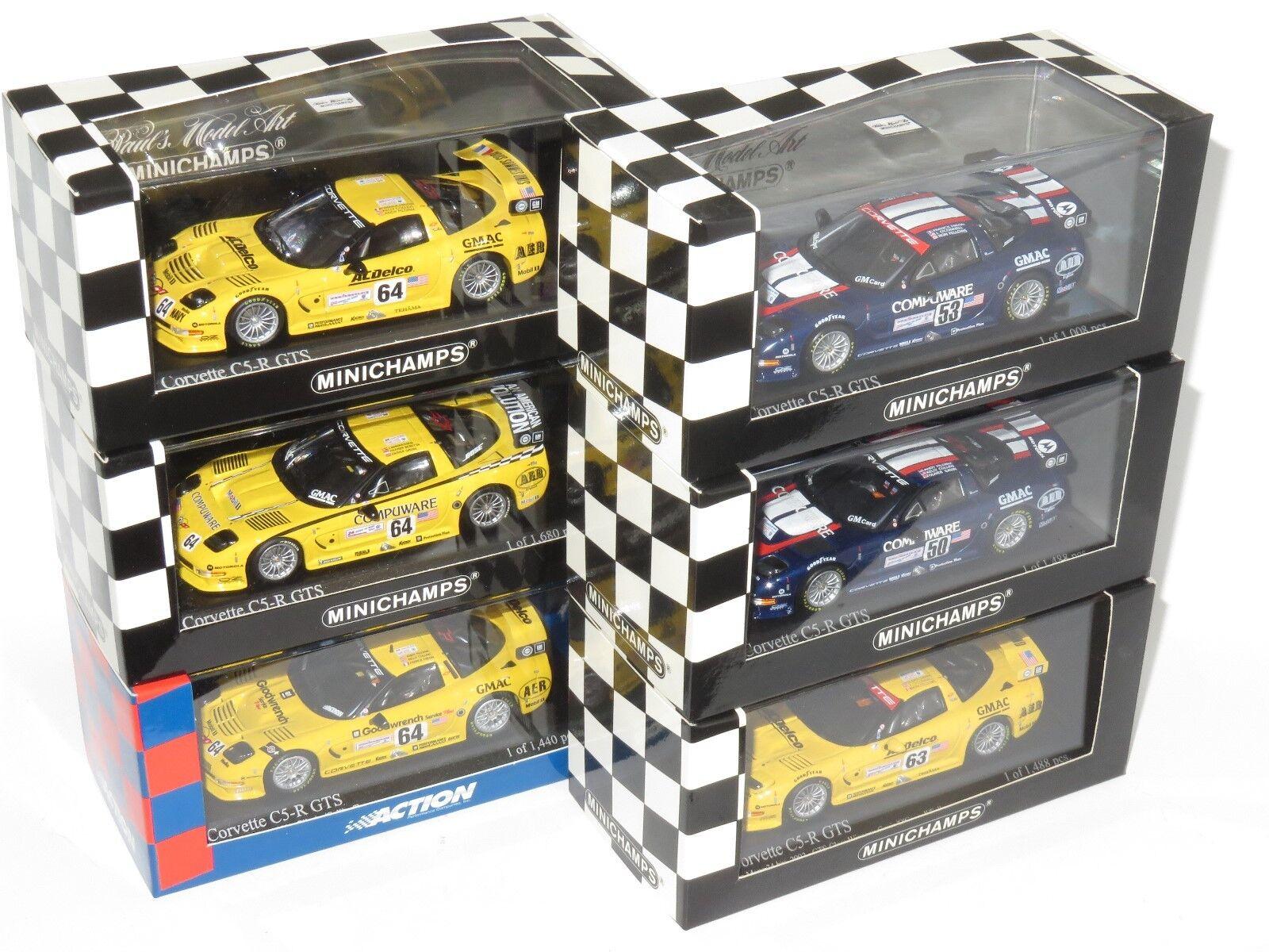 X6 Assorted 1 43 Corvette C5-R  Le Mans 24 Hours 2001   2002   2003   2004