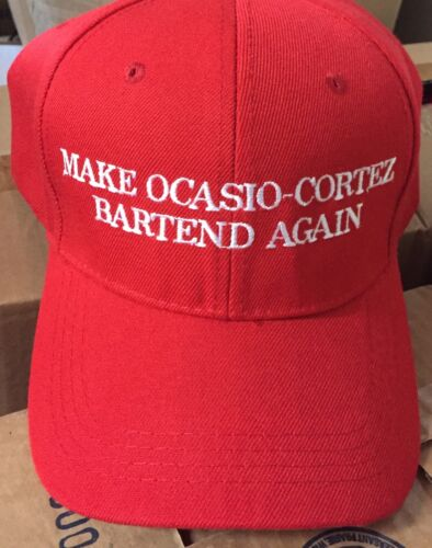 MAKE OCASIO CORTEZ Bartend Again HAT Trump Inspired Parody EMBROIDERED 2020 Cap