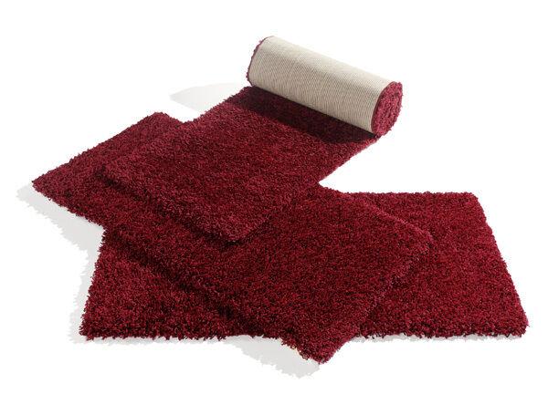 Tendenza-Shaggy Tappeto a Pelo lungo 630 Rosso 80x240 cm Nuovo