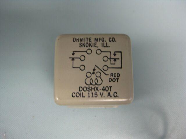 Ohmite Dox-53T 115 Vac  Relay New
