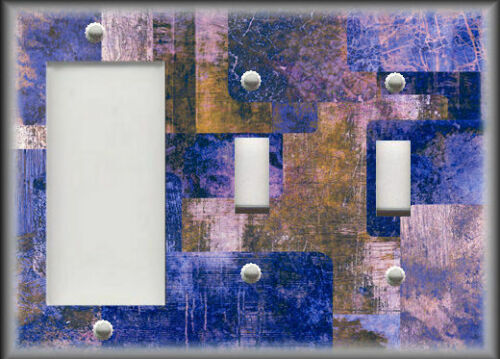 Modern Art Shades Purple Brown Home Decor Metal Light Switch Plate Cover