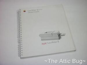 Apple Laserwriter Ii Nt / Ntx Propriétaire Guide ~ Ringbound Book / Manuel-afficher Le Titre D'origine 9kah9yud-07184751-664490869