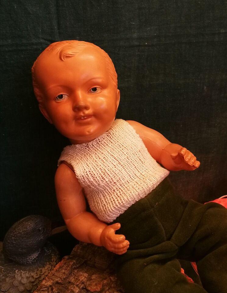 Dukker, Gammel / vintage drenge dukke. Celloid gl plast