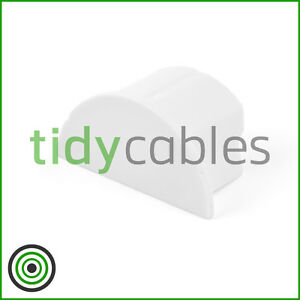 D-Line 30x15 End Cap for TV Cable Cover Wire Hiding Trunking (All Colours)